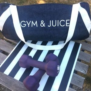 Gym & Juice Denim Sports Duffle Bag EUC
